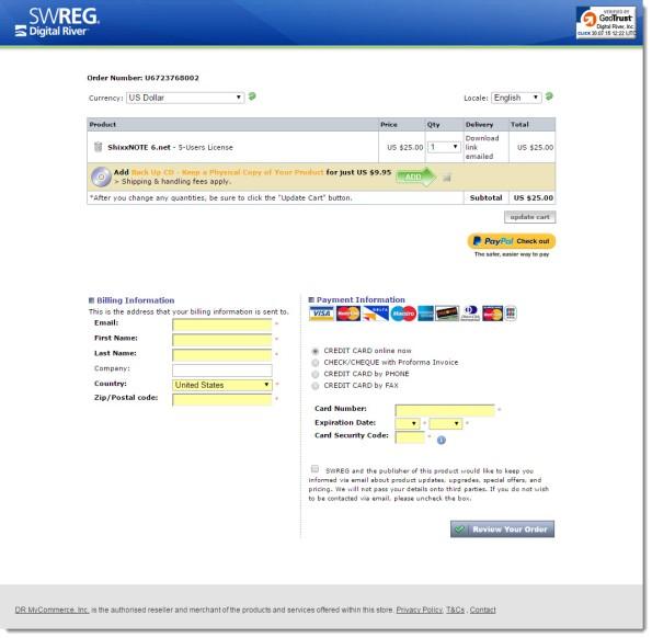 ShixxNOTE payment processor company